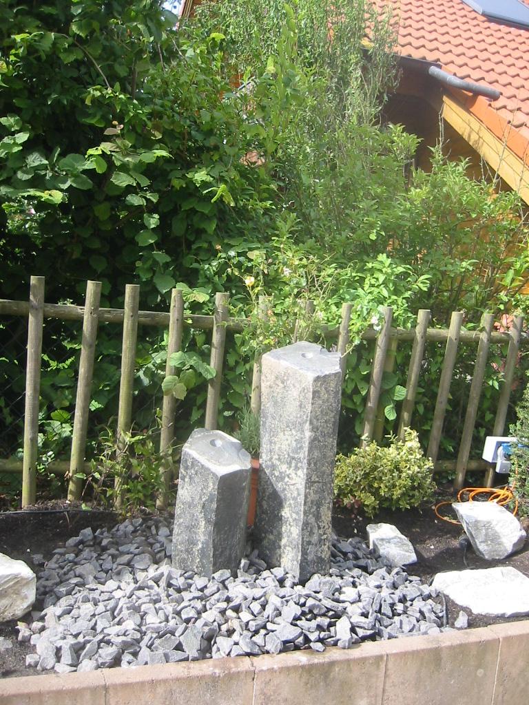 Gartensitzplatz Gestalten Wasserspiel Wasser Im